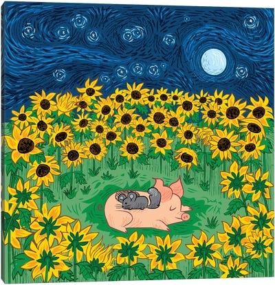 Among The Sunflowers Canvas Art Print