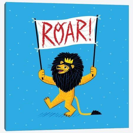 Roar Canvas Print #OLV36} by Oliver Lake Canvas Art