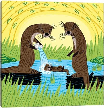 An Otter's Paradise Canvas Art Print