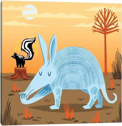 The Aardvark And The Skunk Canvas Art Print