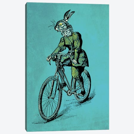 The Bicycle Bunny Canvas Print #OLV50} by Oliver Lake Canvas Art Print