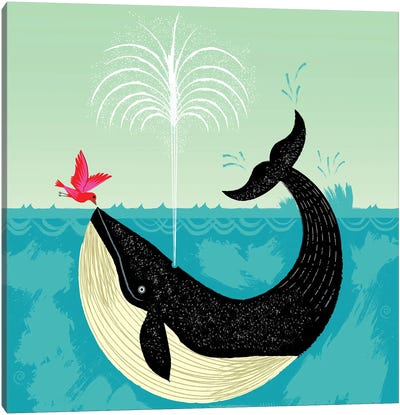 The Bird and The Whale Canvas Art Print