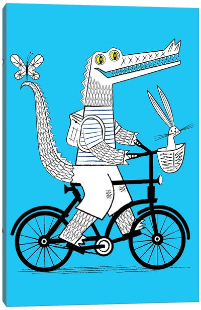 The Crococycle Canvas Art Print