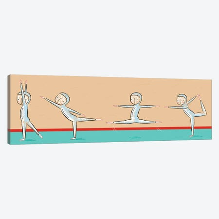 The Gymnast Canvas Print #OLV56} by Oliver Lake Canvas Artwork
