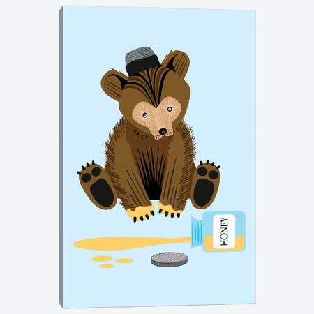 The Honey Bear Canvas Print #OLV58} by Oliver Lake Canvas Art Print