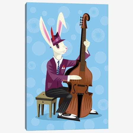 The Jazz Bunny Canvas Print #OLV59} by Oliver Lake Canvas Art Print