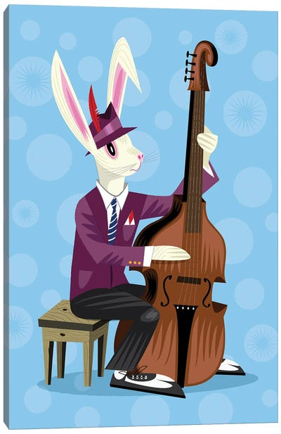 The Jazz Bunny Canvas Art Print