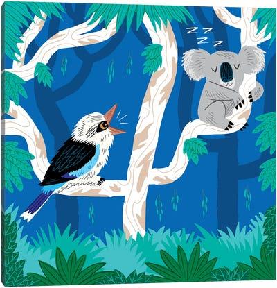 The Koala And The Kookaburra Canvas Art Print