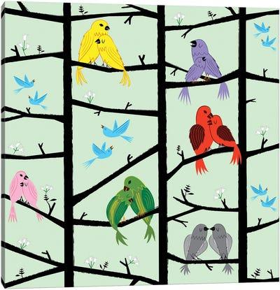 The Lovebirds Canvas Art Print