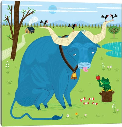 The Ox And The Frog Canvas Art Print