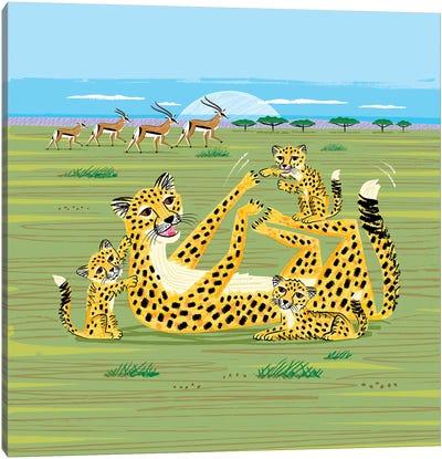 Cheetahs and Gazelles Canvas Art Print