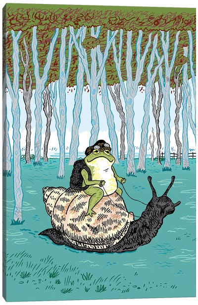 The Snail And The Frog Canvas Art Print