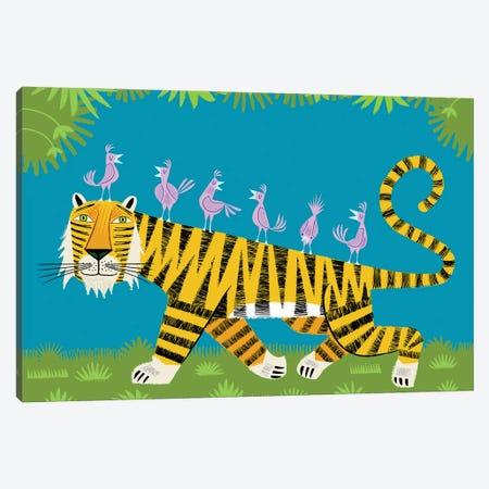 Tiger Transportation Canvas Print #OLV87} by Oliver Lake Art Print