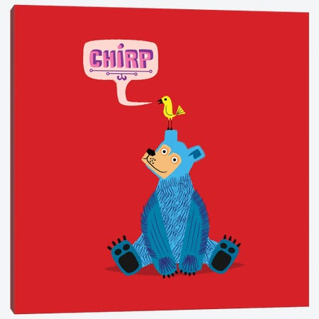 Chirp Canvas Print #OLV8} by Oliver Lake Canvas Wall Art