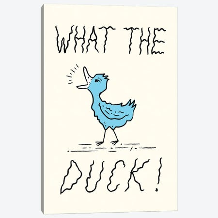 What The Duck Canvas Print #OLV92} by Oliver Lake Canvas Art Print