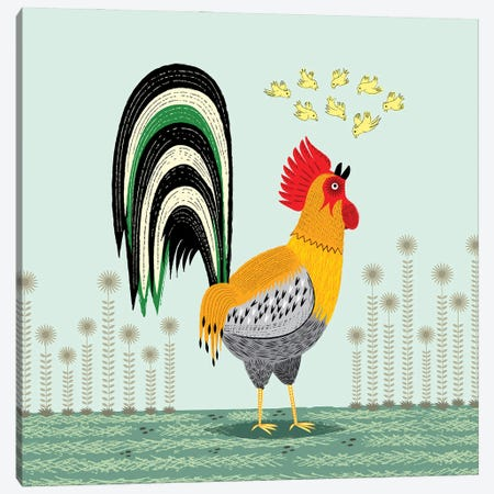 When The Rooster Crows Canvas Print #OLV93} by Oliver Lake Canvas Art Print