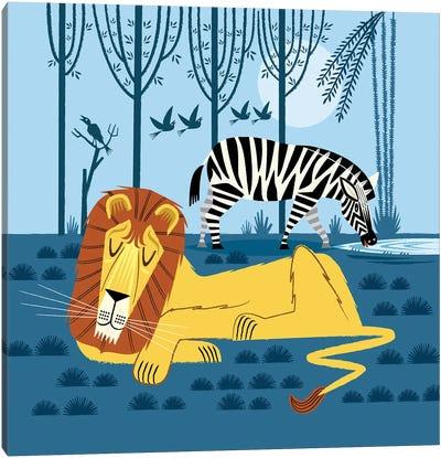 While The Lion Sleeps Canvas Art Print