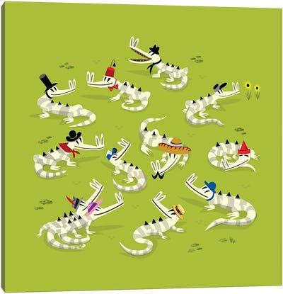 Crocodile Couture Canvas Art Print