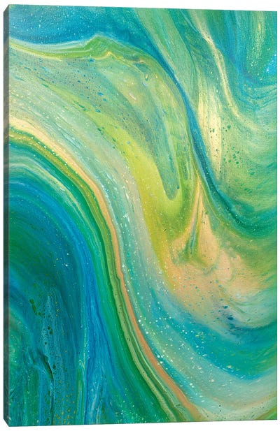 Green Wave Canvas Art Print