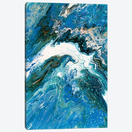 Dolphin Leap Canvas Print #OMA5} by Ocllo Mason Canvas Artwork