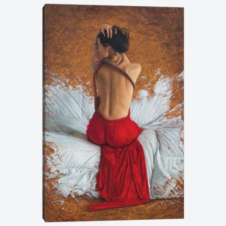 Scarlet Heart Canvas Print #OMO22} by Omar Ortiz Canvas Art