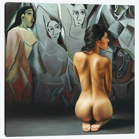 The Dialogue Of The Ladies Canvas Print #OMO25} by Omar Ortiz Art Print