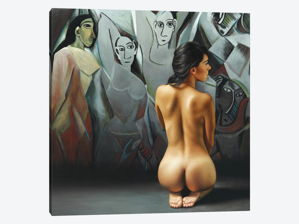 The Dialogue Of The Ladies by Omar Ortiz 1-piece Canvas Wall Art