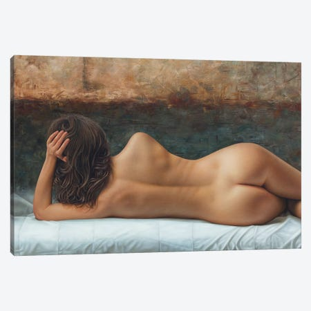 The Line Of Your Back Canvas Print #OMO28} by Omar Ortiz Canvas Wall Art