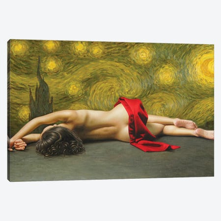 The Starry Night Canvas Print #OMO36} by Omar Ortiz Canvas Art