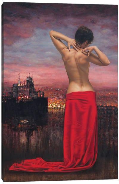 Fire On The Horizon Canvas Art Print
