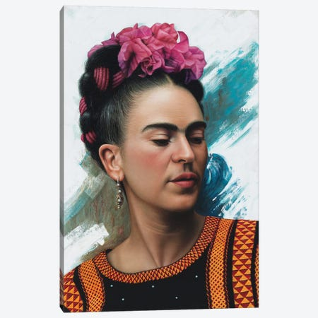 Frida Kahlo Canvas Print #OMO52} by Omar Ortiz Canvas Art Print