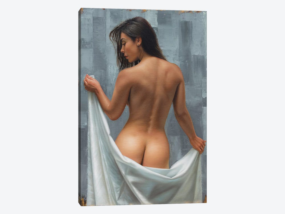 Between Gray by Omar Ortiz 1-piece Canvas Print