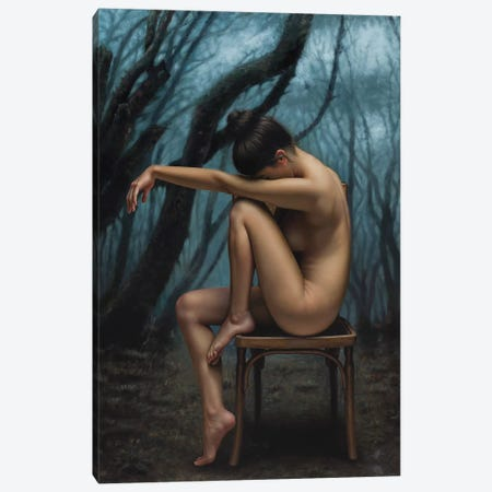 The Forest 3-Piece Canvas #OMO66} by Omar Ortiz Canvas Print