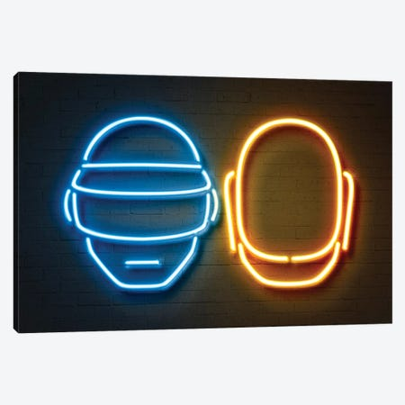 Daft Punk Canvas Print #OMU101} by Octavian Mielu Art Print