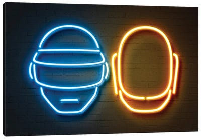 Neon Luminosity Series: Daft Punk Canvas Art Print