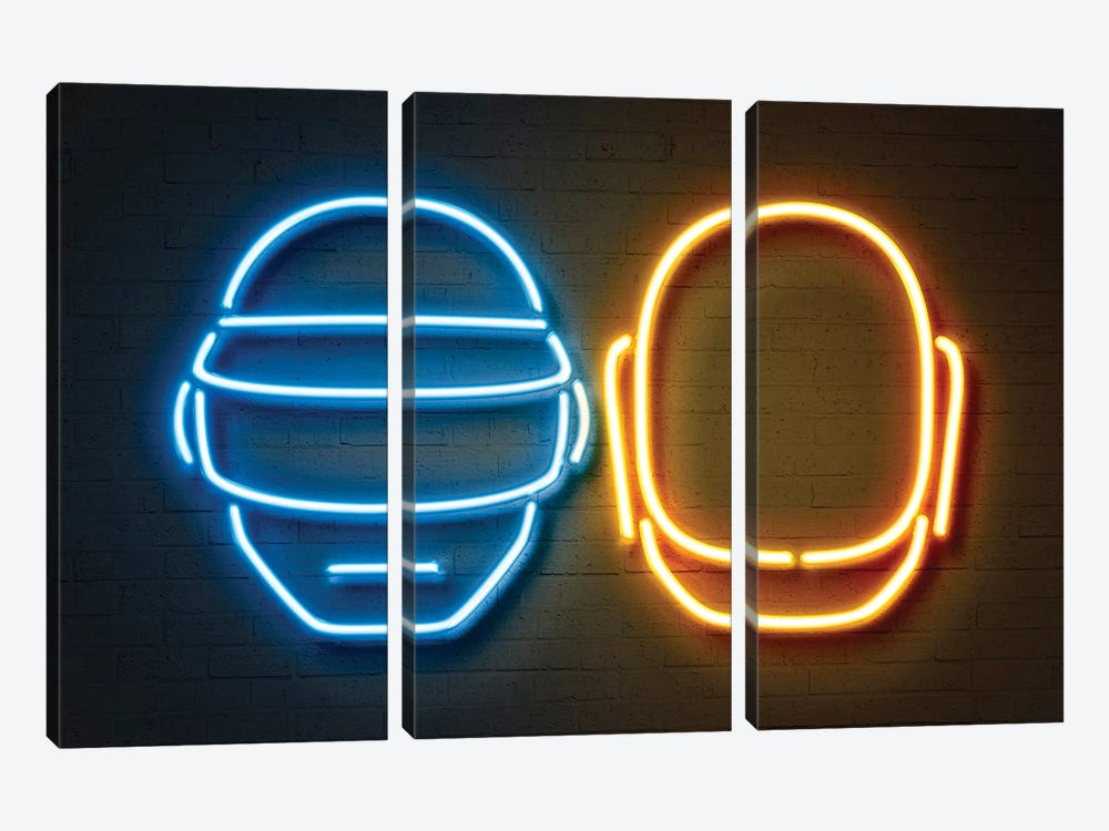 Daft Punk by Octavian Mielu 3-piece Canvas Art