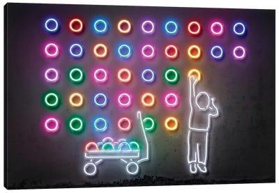 Neon Luminosity Series: Dots Canvas Print #OMU103