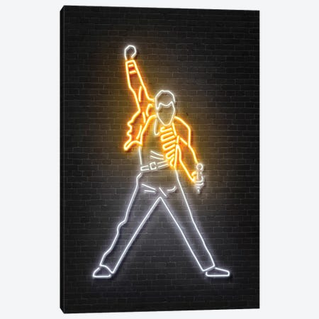 Freddie Mercury Canvas Print #OMU105} by Octavian Mielu Canvas Artwork
