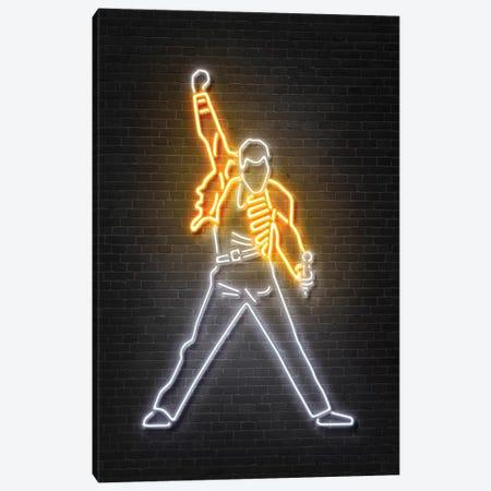 Freddie Mercury Canvas Print #OMU105} by Octavian Mielu Canvas Artwork