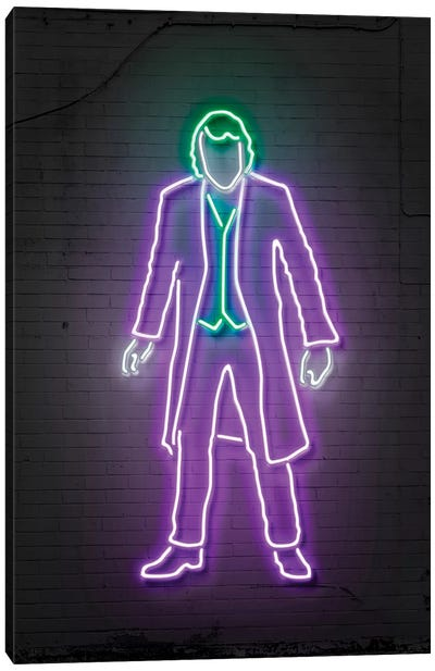 Neon Luminosity Series: Joker Canvas Print #OMU109
