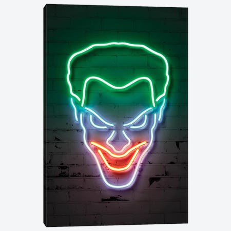 Joker Portrait Canvas Print #OMU110} by Octavian Mielu Canvas Art