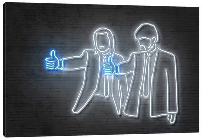Neon Luminosity Series: Like Fiction Canvas Print #OMU111