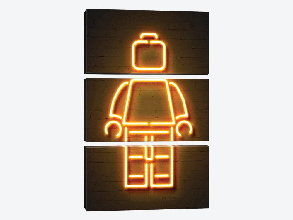 Minifig by Octavian Mielu 3-piece Canvas Art