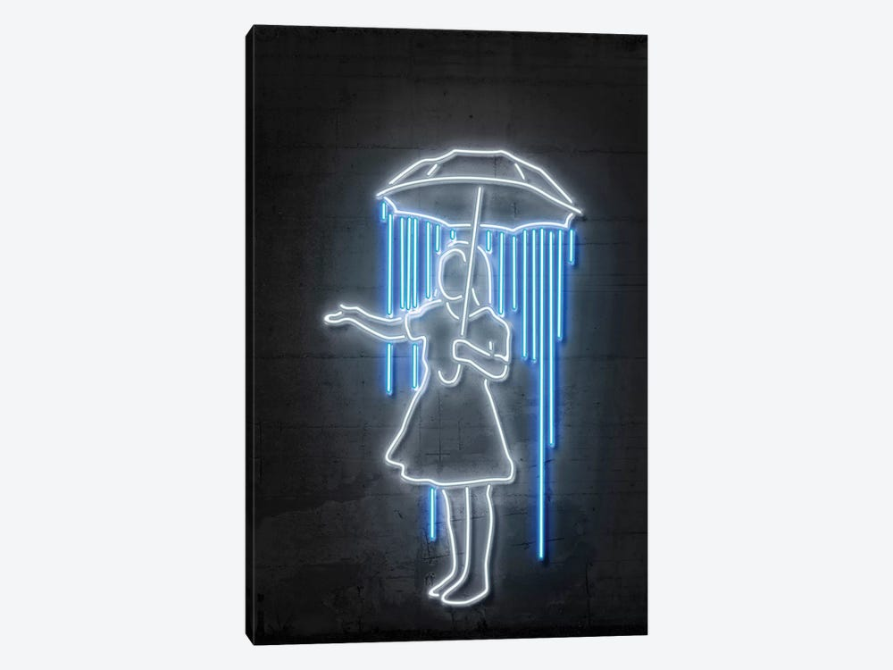 Nola Girl With Umbrella by Octavian Mielu 1-piece Canvas Artwork