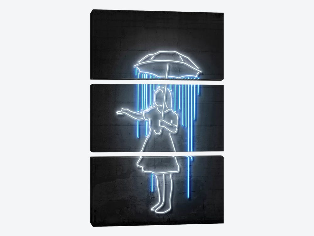 Nola Girl With Umbrella by Octavian Mielu 3-piece Canvas Art