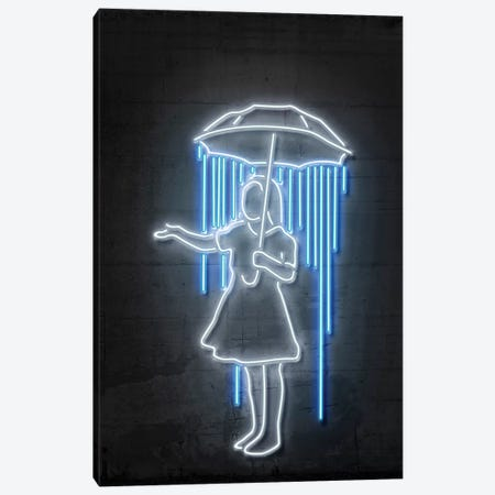 Nola Girl With Umbrella Canvas Print #OMU116} by Octavian Mielu Canvas Art Print