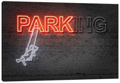 Neon Luminosity Series: Park Canvas Art Print