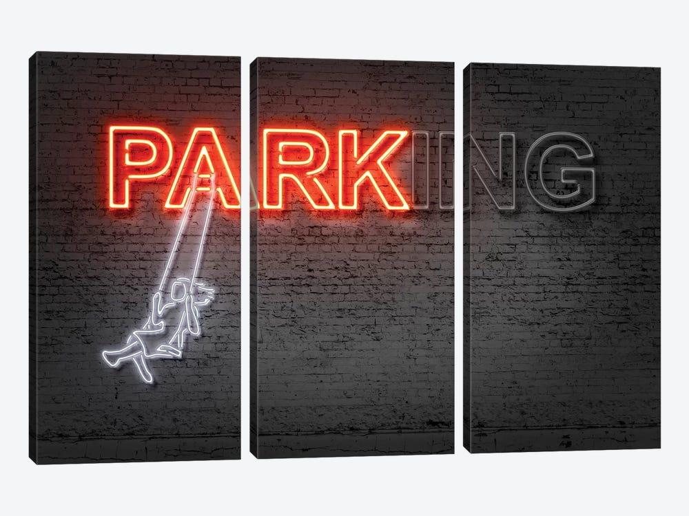 Park by Octavian Mielu 3-piece Canvas Wall Art