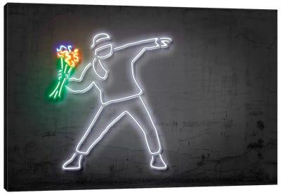 Neon Luminosity Series: Rage, Flower Thrower Canvas Print #OMU119