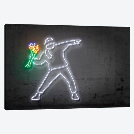 Rage, Flower Thrower 3-Piece Canvas #OMU119} by Octavian Mielu Canvas Wall Art
